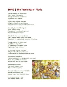 SONG - The Teddy Bears' Picnic