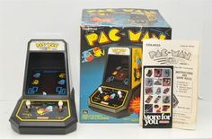 Vintage Pac Man 1981 Midway Mini Arcade Table Top Game by Coleco Original Box | eBay