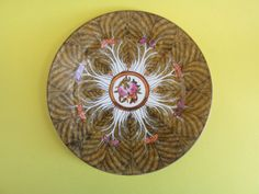Vintage Hand Painted Gold Leaf Decorative Plate 1980s Hong Kong Trans Art Industries $16