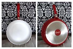 Red and white fryingpan!