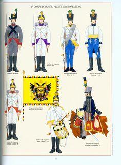 Austria; 4th Army Corps(Prinz von Rosenberg), Infantry Regiments & 3rd Hussars Archduke Ferdinand, Wagram, July 1809