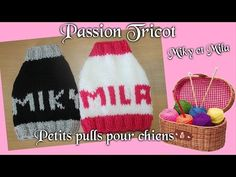 Tutoriel Tricot: Pull I Love You pour petits chiens Chihuahuas ou Yorkshires - YouTube