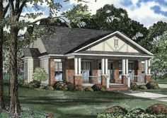"""Redwood House Plan - 7466  1399 sq. ft. 3bed, 2bath. Split layout. fireplace. No formal dining room - 10x8 """"nook"""" for a dining table. kids nook for vinyl machine?"""