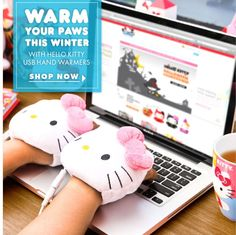 Hello Kitty hand warmers!