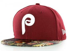Philadelphia Phillies Snake Visor 59Fifty Fitted Baseball Cap by NEW ERA x  MLB Flat Bill Hats 119e2f7be00