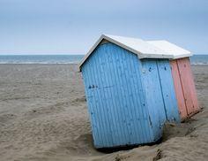 Strandhuisjes aan de Belgische kust 1