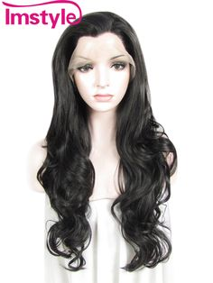 """Imstyle Wavy Synthetic Off Black 26"""" lace front wig"""