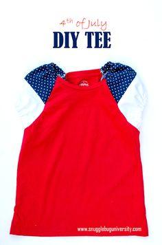 4th of July DIY T-Shirt | This DIY shirt pattern is so patriotic!