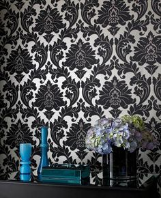 Majestic damask wallpaper... Need this for my bedroom!