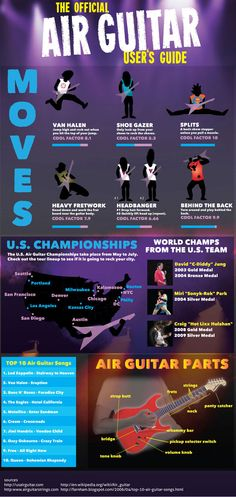 The air guitar user's guide - cool moves, all about air guitar.