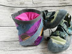 Chalkbag Jeans-Kaffee lila Bouldering Wall, Coffee Pack, Two By Two, Etsy, Lilac, Old Jeans, Bouldering, Beautiful Bags, Sachets