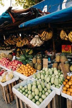 Island Hopping in the Philippines — Elsa's Wholesome Life - travel inspo - Fruit stalls in - Fruit And Veg, Fruits And Vegetables, Fresh Fruit, Fruit Stall, Fresco, Vegan Restaurants, Smoothie Bowl, Farmers Market, Healthy Eating