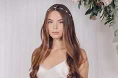 Crystal bridal hair accessory hairvine in rose gold, silver or gold - Debbie Carlisle