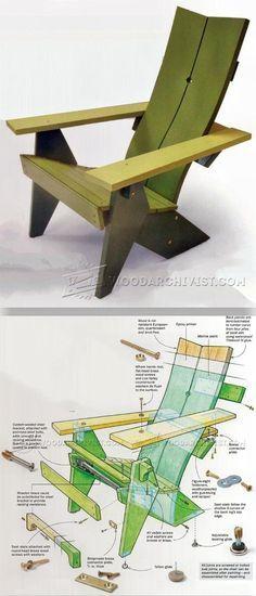 Adirondack Chair Plans - Outdoor Furniture Plans & Projects | WoodArchivist.com