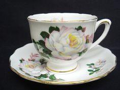 Vintage Cup and Saucer    Royal Vale   England   Bone ♥ by lasadana, $29.99