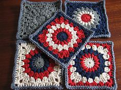 Ravelry: Sunburst Granny Squares pattern by Priscilla Hewitt (worsted weight)