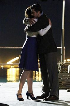 """""""Now is Not the End"""" - Hayley Atwell as (Peggy Carter) and Dominic Cooper as (Howard Stark) Agent Carter Costume, Series Da Marvel, 1940s Costume, Pilot, Dominic Cooper, Avengers, Hayley Atwell, Series Premiere, And Peggy"""