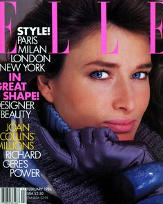 Rosemary McGrotha x Elle February 1986 Fashion Magazine Cover, Fashion Cover, Magazine Cover Design, Fashion Photo, Magazine Covers, Model Magazine, Elle Magazine, Kelly Lebrock, Dior