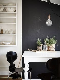 platter holder but one or two narrow shelves for above sink Bright attic apartment in Stockholm Daily Dream Decor