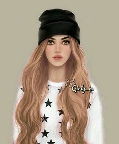 My lady :) Girly M, Cute Girls, Cool Girl, Sarra Art, Chica Cool, Cute Girl Drawing, Cute Girl Wallpaper, Girly Drawings, Girl Sketch