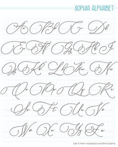 Easy Calligraphy Fonts, Faux Calligraphy Alphabet, Lettering Styles Alphabet, Calligraphy Worksheet, Graffiti Lettering Fonts, Calligraphy For Beginners, Tattoo Lettering Fonts, Calligraphy Handwriting, Easy Caligraphy