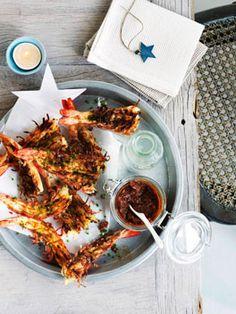 Barbecue prawns