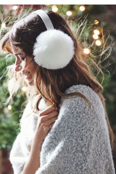 Oversized Earmuff | Take your winter accessories up a notch with these super cozy and luxe oversized earmuffs by Free People.  Contrast headband.  American made.