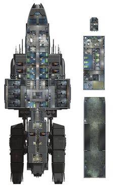 Deck Plans 265079128044974444 - Ryan Wolfe of Ki Ryn Studios Source by kalimbra Spaceship Interior, Spaceship Art, Spaceship Design, Nave Star Wars, Star Wars Rpg, Star Wars Ships, Star Wars Spaceships, Sci Fi Spaceships, Rpg Cyberpunk