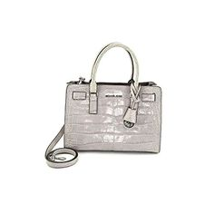 Women's Top-Handle Handbags - Michael Kors Dillon Ew Satchel Embossed Leather ASH Greysilver ** Click on the image for additional details.