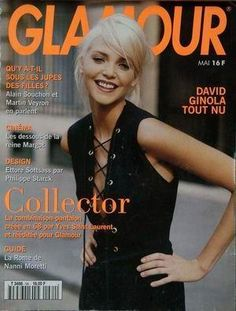Nadja Auermann Cover Glamour France - May 1994 David Ginola, Nadja Auermann, Fashion Magazine Cover, Fashion Cover, Magazine Covers, Glamour France, Yves Saint Laurent, 80s And 90s Fashion, Lingerie