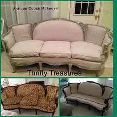 Thrifty Treasures: Antique Couch- a new life, a new WOW!