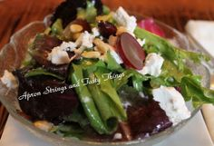 Cranberry and Goat Cheese Salad with Grapes and Pine Nuts