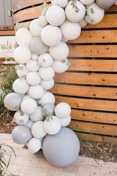 Mountain Camping Outdoor Baby Shower in 2020 Balloon Garland, Balloon Decorations, Balloon Ideas, 30th Birthday Parties, Birthday Ideas, Rustic Birthday, Joyous Celebration, Gender Reveal Balloons, Birthday Photo Booths
