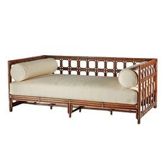 Regeant Wicker Daybed at Joss and Main Rattan Daybed, Bamboo Sofa, Wood Daybed, Daybeds, Wicker Furniture, Furniture Design, Cane Furniture, Outdoor Furniture, Ikea Living Room