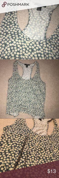 Forever 21 Flowy Tank Adorable sunflower print take from Forever! Worn only once! Forever 21 Tops Tank Tops