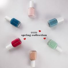 It's the first day if Spring! Celebrate with a fresh new ladies! Nail Polish Colors, Spring Colors, Spring Collection, Essie, Hair And Nails, Make Up, Nail Art, Spring 2014, Fresh
