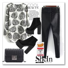 """SHEIN 10"" by zina1002 ❤ liked on Polyvore featuring Moschino"