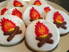 Items similar to Camping Cookies, 1 Dozen, Decorated Sugar Cookies, Cookie Favors, Birthday Cookies on Etsy Summer Cookies, Fancy Cookies, Cut Out Cookies, Iced Cookies, Cute Cookies, Heart Cookies, Cookie Frosting, Royal Icing Cookies, Birthday Cookies