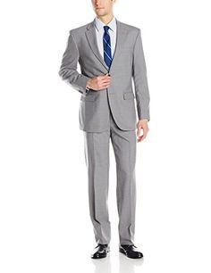 Tommy Hilfiger Men's Vasser Side Vent Suit 2 Button, Light Gray, 36 Short Tommy Hilfiger http://www.amazon.com/dp/B00UOVIS4U/ref=cm_sw_r_pi_dp_.rhDwb12NSM25