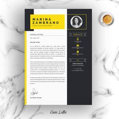 Minimalist Clean Resume/CV Template by ResumeInventor on Modern Resume Template, Resume Template Free, Creative Resume Templates, Free Resume, Resume Cv, Resume Design, Cv Design, Cover Letter Template, Letter Templates