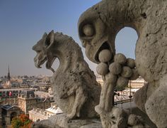 gargoyles Notre Dame Cathedral, Paris