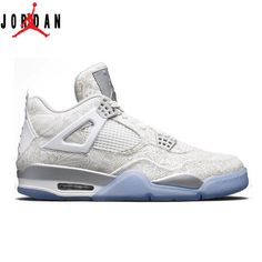best sneakers 696a9 1f7fb Authentic 705333-105 Air Jordan 4 Retro Laser White Chrome-Metallic Silver, Jordan-Jordan 4 Shoes Sale Online