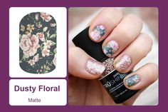 This matte finish, shabby-chic floral wrap is sure to bring out your inner vintage. #bevsjamminnails https://bkimball.jamberry.com/us/en/shop/products/dusty-floral#.VtpMQPkrJD8