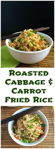 Got leftover cabbage and rice? Whip up this healthy and super quick fried rice in under 3o minutes. #vegetarian