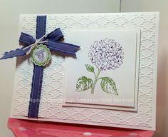 Best of Flowers Hydrangea - Fancy Fan embossing folder. Tag made with Sneak Peek stamps - A Round Array.