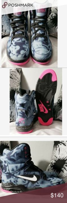 new concept 40c11 0d71e Nike Air Command Force Bleached Denim Retro HiTop Nike Air Command Force  Bleached Denim Mens Retro · Black White PinkColor ...