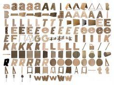 Cardboard typeface by Klasse Fur System Design