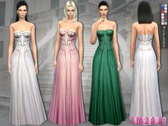 The Sims Resource: 140 � Gery dress by sims2fanbg � Sims 4 Downloads