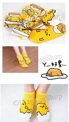 Free Shipping | Sanrio Gudetama Socks (12.00 SGD) by LazyEggShop
