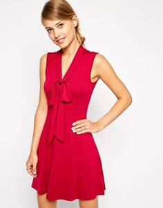 ASOS Skater Dress with Pussy Bow